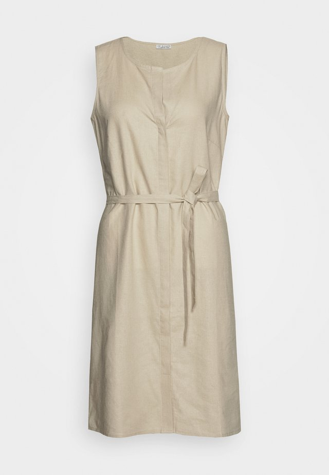 DRESS - Skjortklänning - stone beige