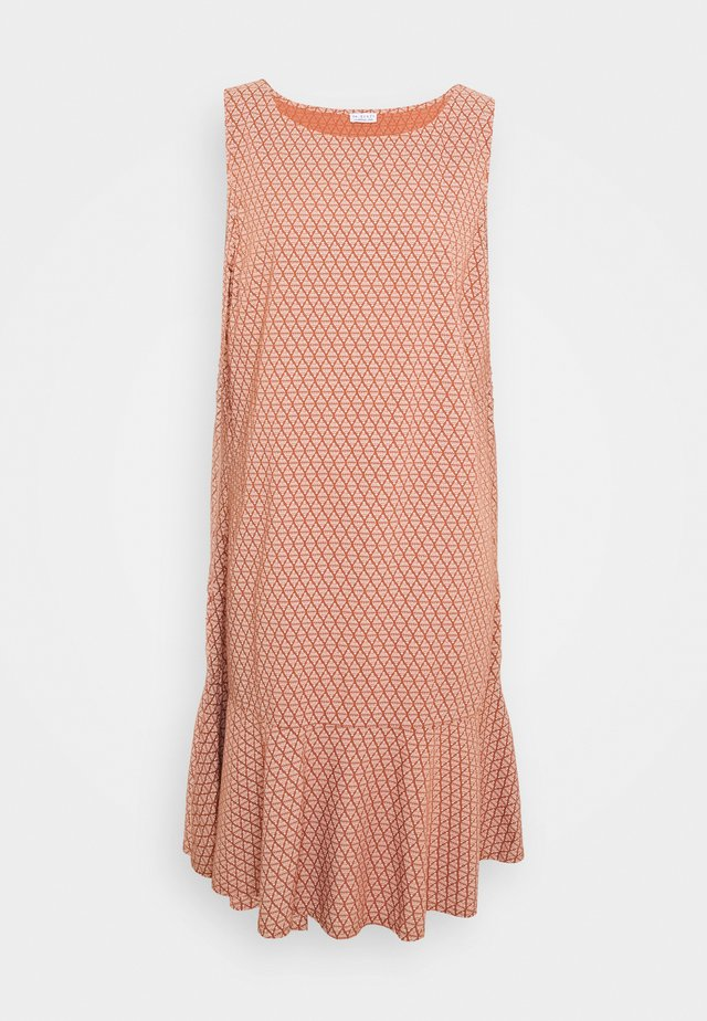 VOLANT DRESS - Korte jurk - metallic red