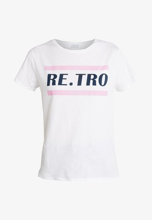 RETRO - Triko spotiskem - white