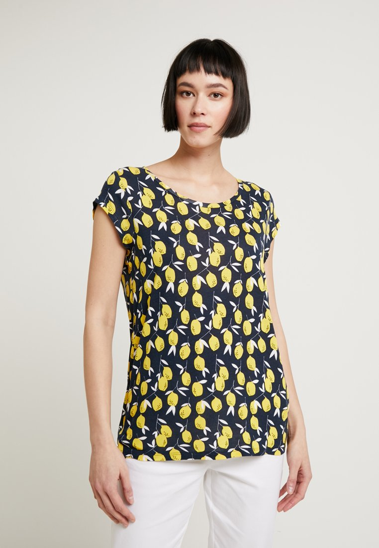 Re.draft - LEMON - Camiseta estampada - navy