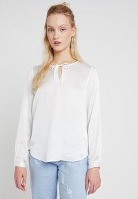 Re.draft - TIE BLOUSE - Blouse - off-white - 0