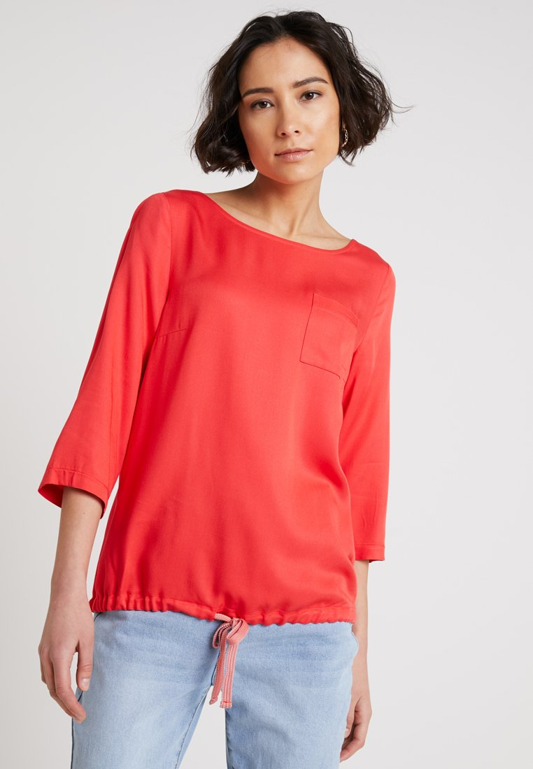 Re.draft - EASY BLOUSE - Blůza - hibiscus red