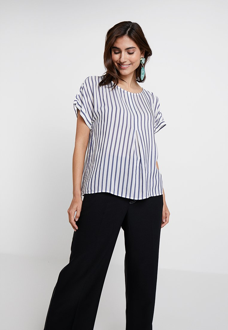 Re.draft - EASY STRIPED BLOUSE - Bluser - navy