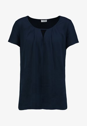BLOUSE WITH PLEAT DETAIL - Blůza - navy