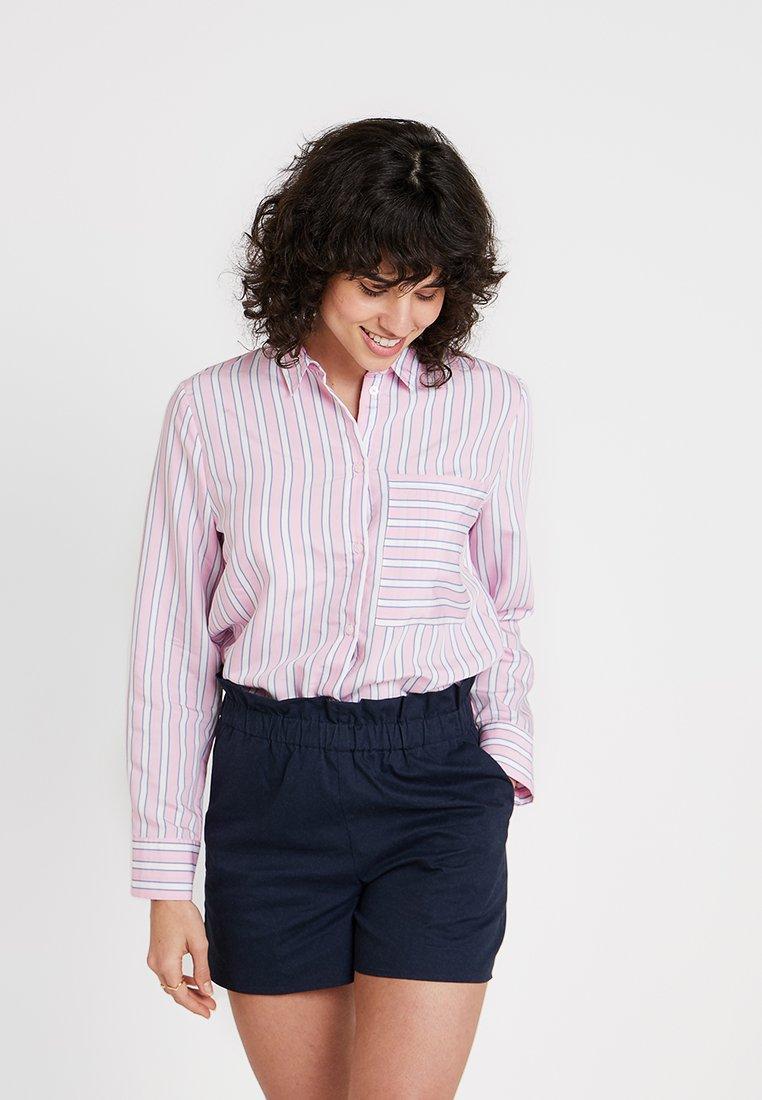 Re.draft - MULTISTRIPE BLOUSE - Camisa - pink spring