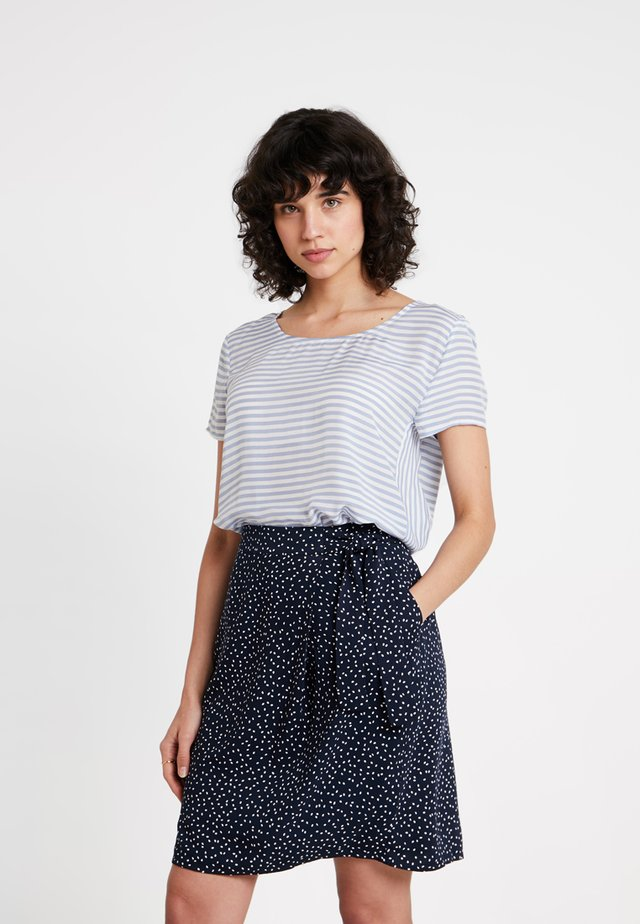 STRIPED BLOUSE - Bluse - marine blue