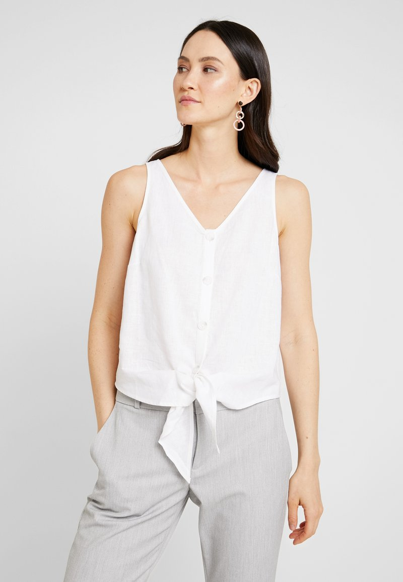 Re.draft - KNOTTED BLOUSE SLEEVELESS - Blusa - white