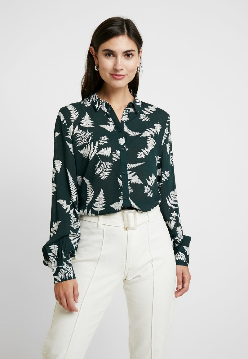 Re.draft - BLOUSE - Button-down blouse - oldschoolgreen
