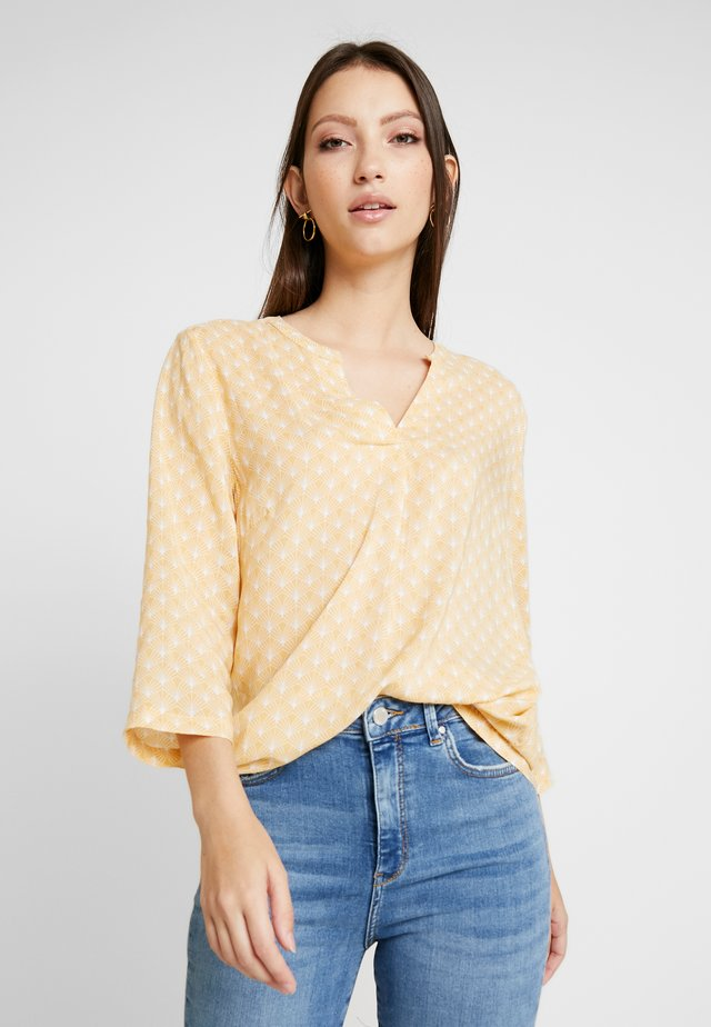 PRINTED BLOUSE - Blus - washed yellow