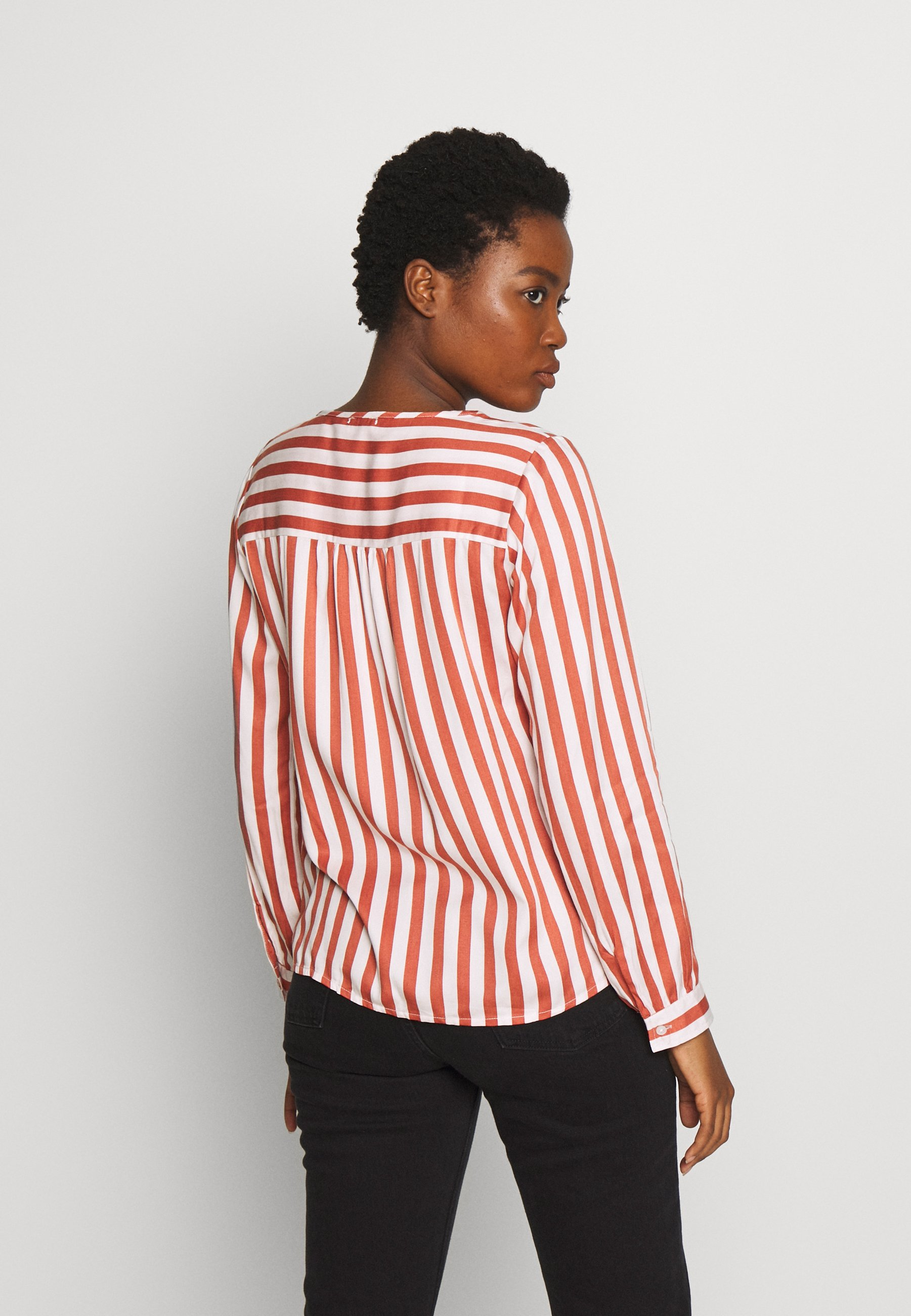 Re.draft Striped Blouse - Bluser Stripe Clay