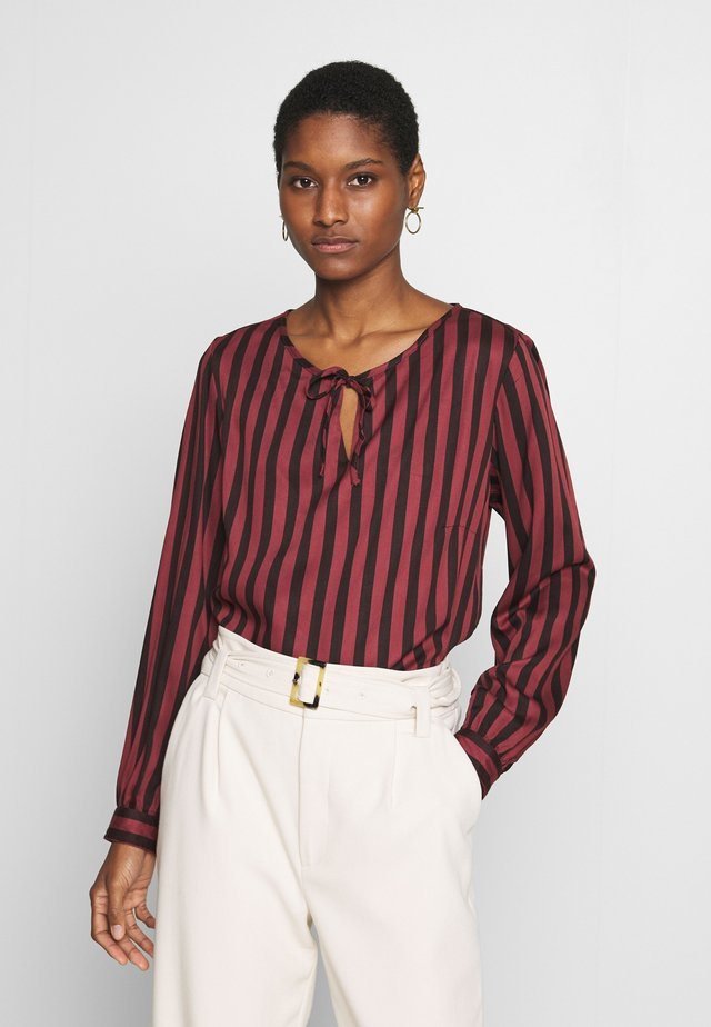 STRIPED BLOUSE - Bluzka - toffee