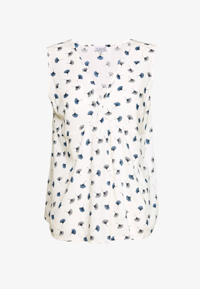 PRINTED KNOT BLOUSE - Bluser - white beach