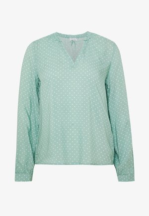 DOT BLOUSE WITH TIE DETAIL - Bluser - eucalyptus