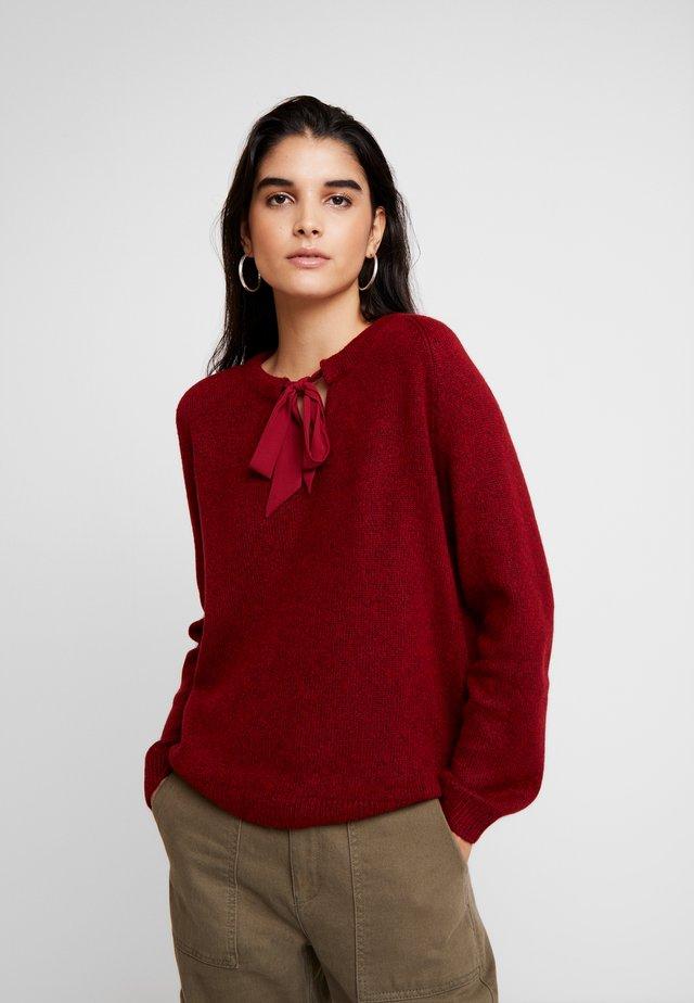 Sweter - red melange