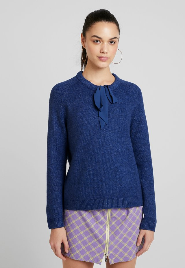Strickpullover - water blue melange