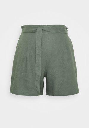 LINEN SHORT - Shorts - olive