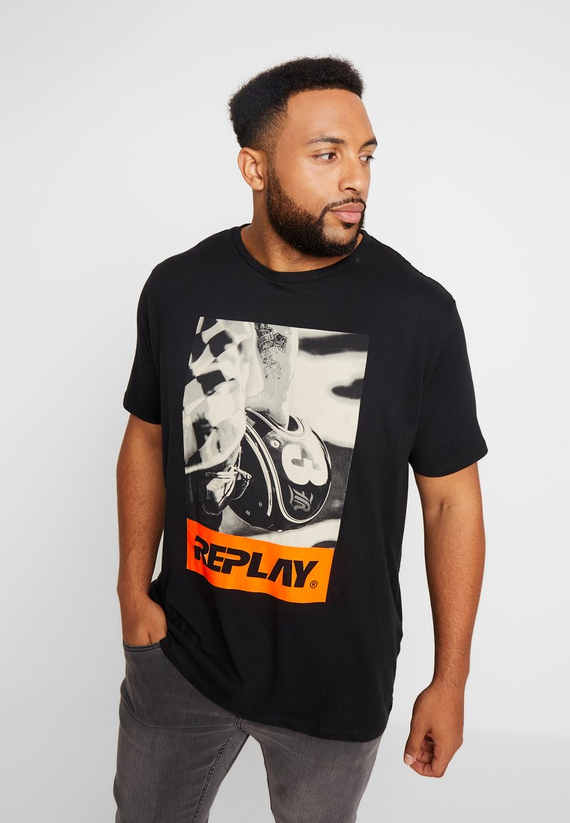 Replay Plus - T-shirts print - black