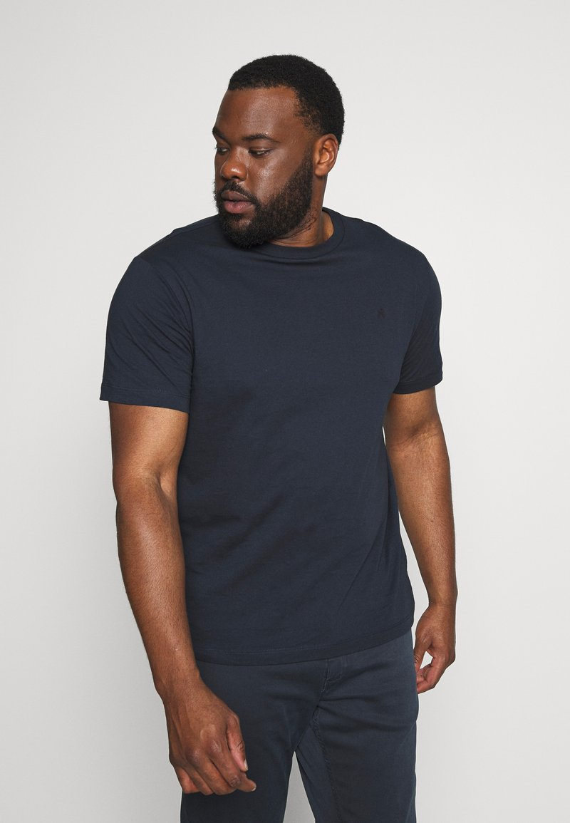 Replay Plus - 2 PACK  - Basic T-shirt - cold grey/navy