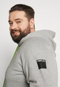 Replay Plus - Zip-up hoodie - light grey melange - 4
