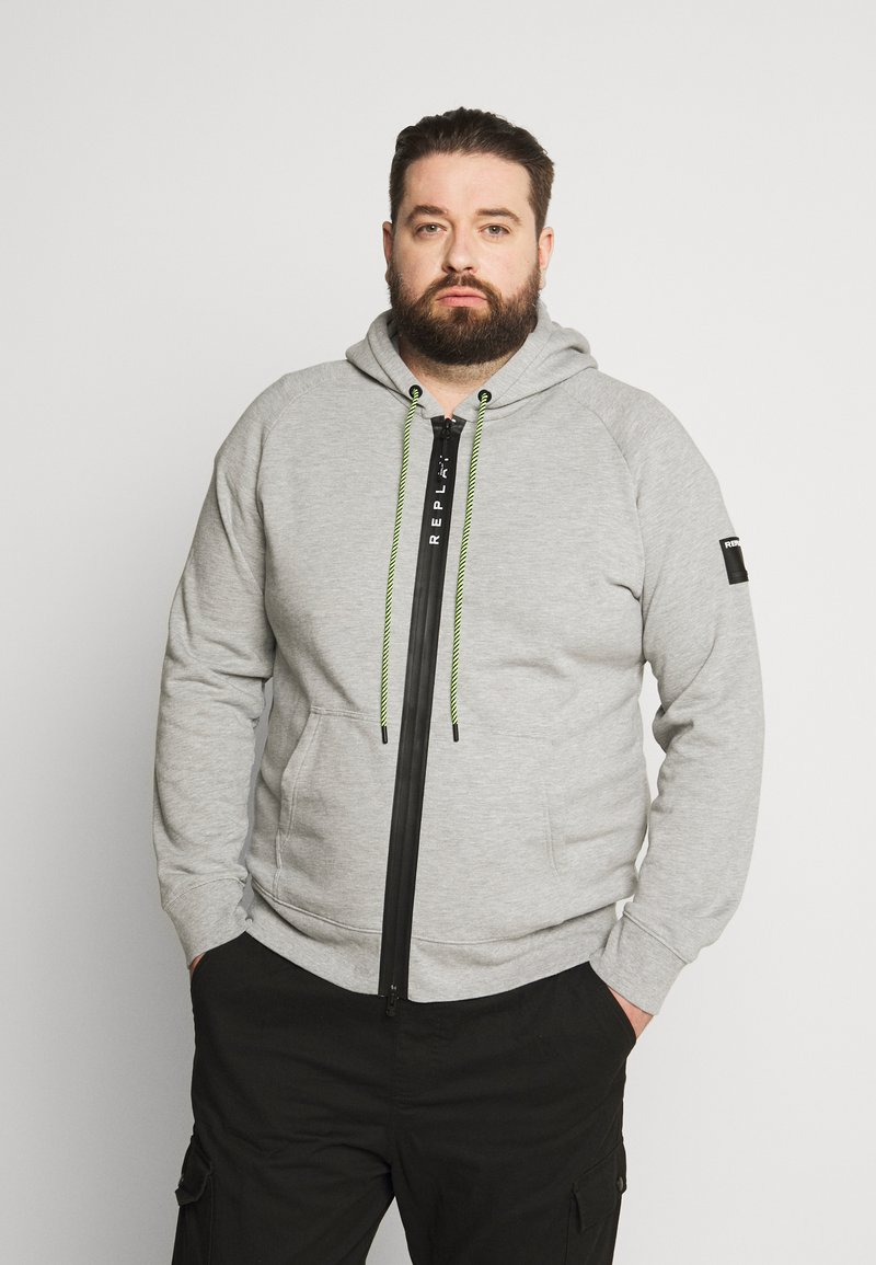 Replay Plus - Zip-up hoodie - light grey melange