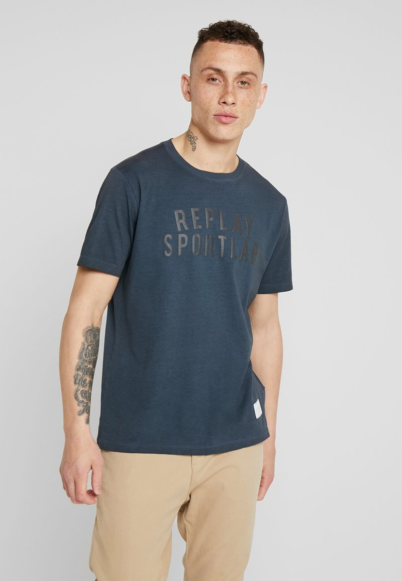 Replay Sportlab - T-shirts print - dark blue