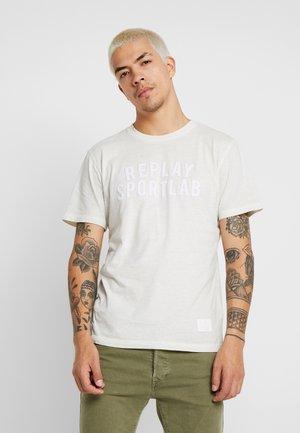 Print T-shirt - chalk