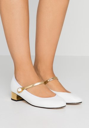ROSE - Classic heels - blanc/or