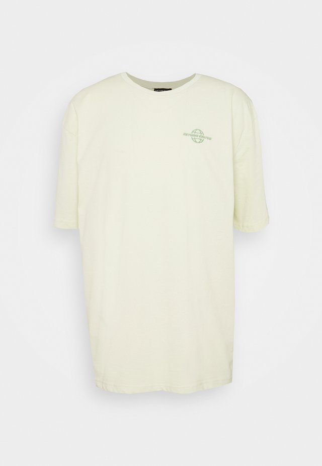 Print T-shirt - aloe wash