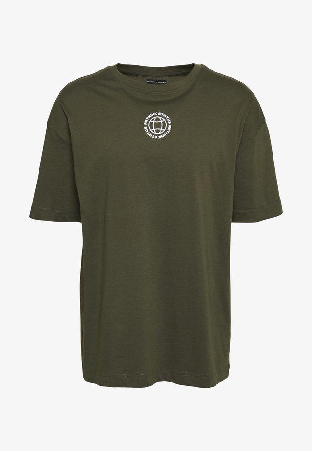 UNISEX - Print T-shirt - army