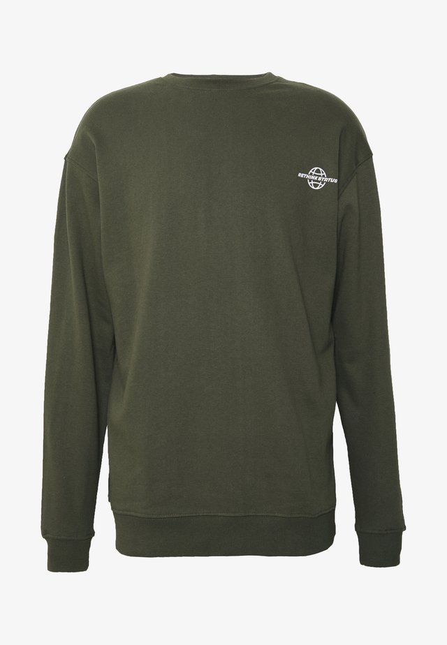 CREW NECK - Collegepaita - army garment dye