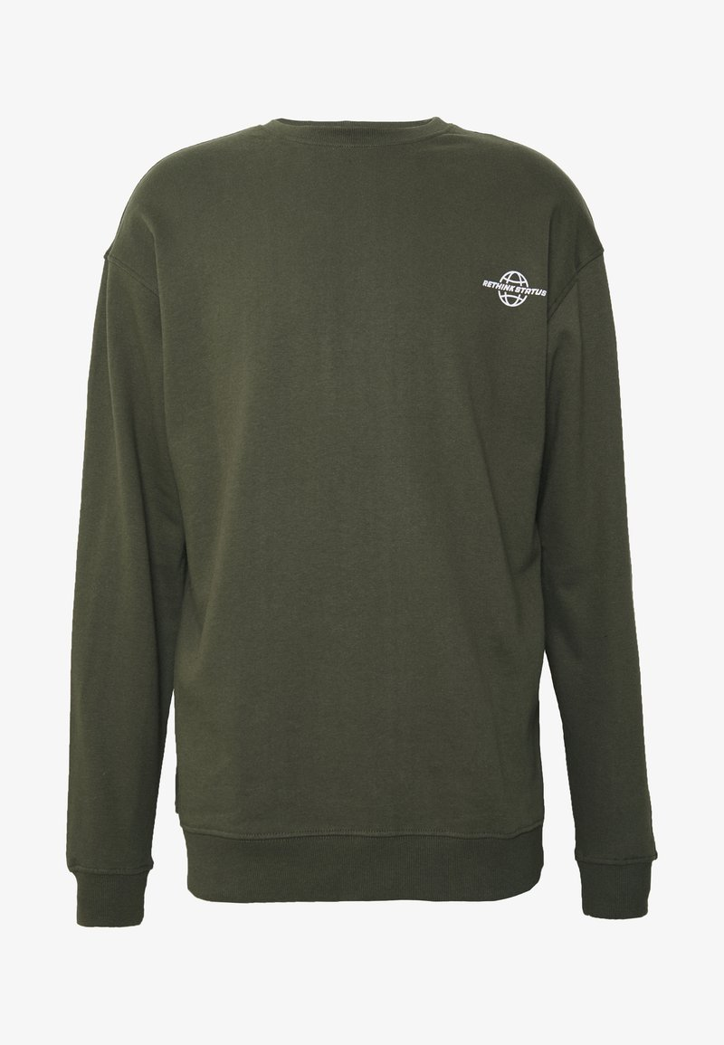 RETHINK Status - CREW NECK - Sweatshirt - army garment dye