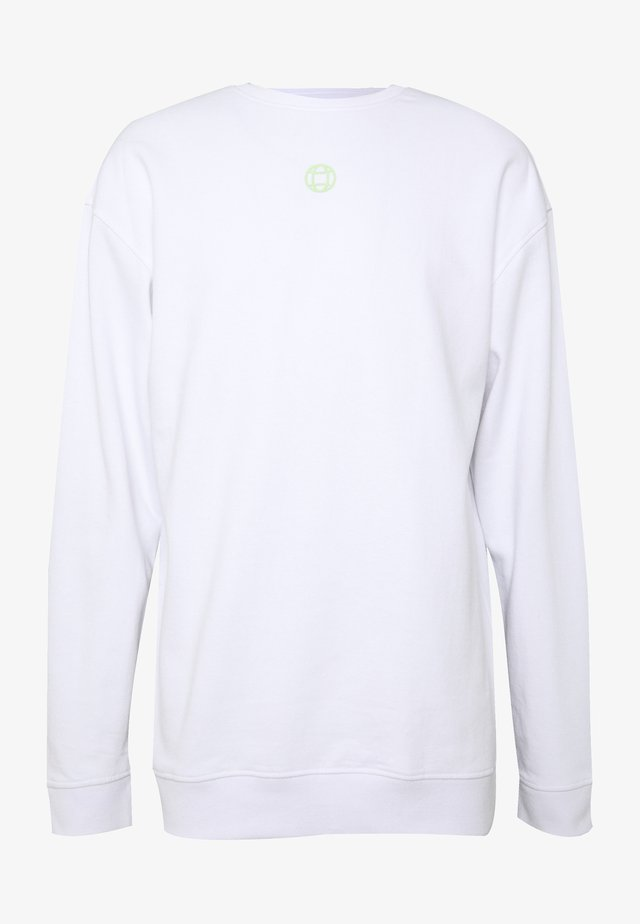 CREW NECK - Collegepaita - white
