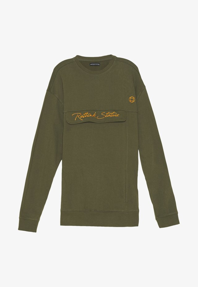CREW NECK  - Collegepaita - army