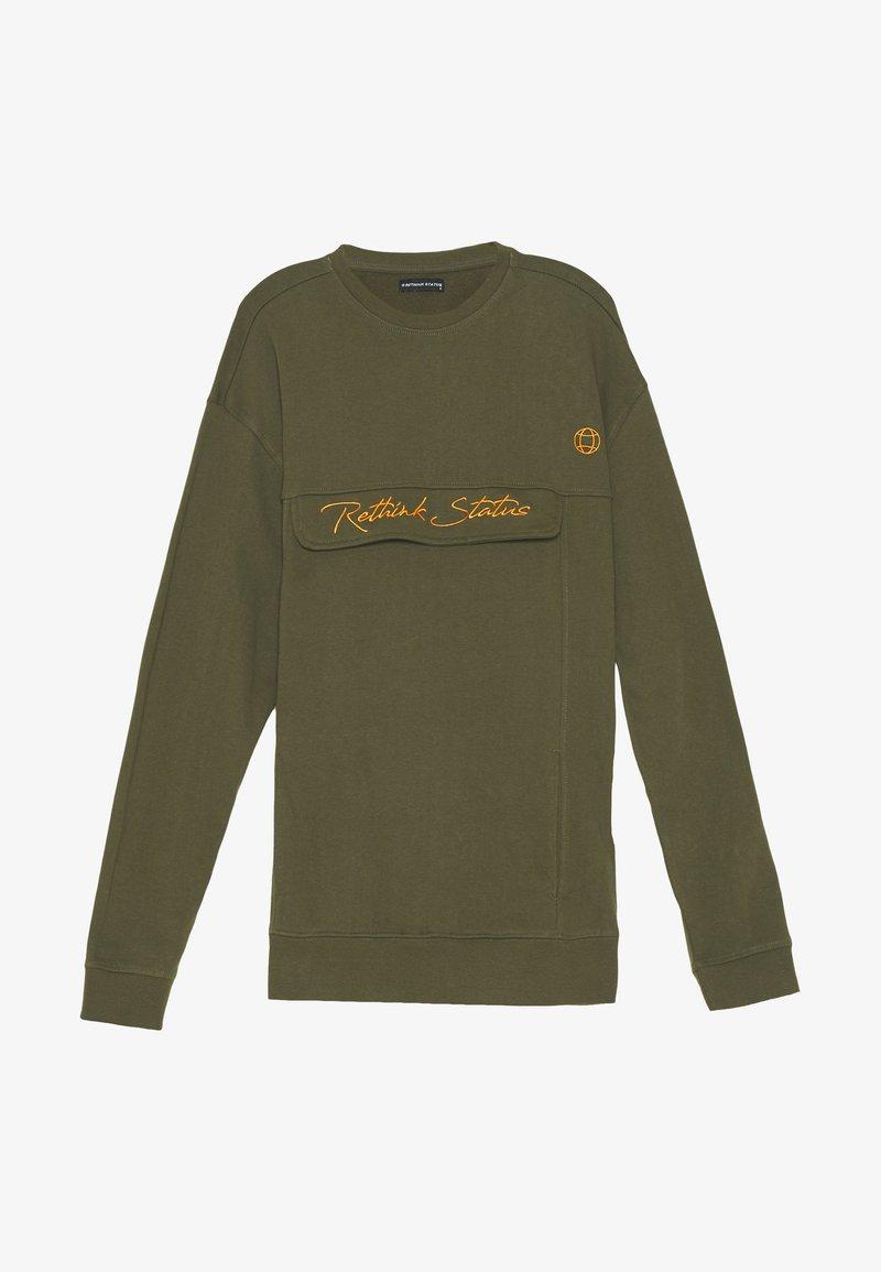 RETHINK Status - CREW NECK  - Sweatshirt - army