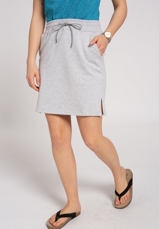 Pencil skirt - grey mélange