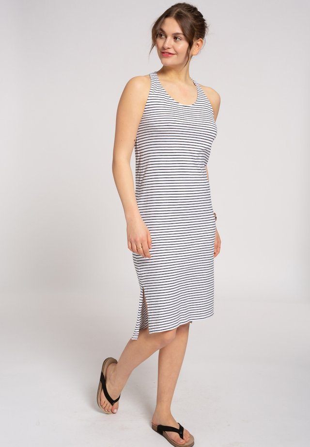 Jersey dress - navy / white