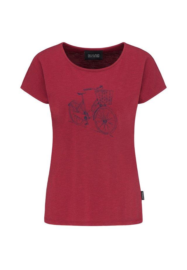 DUTCHBIKE - Print T-shirt - biking red