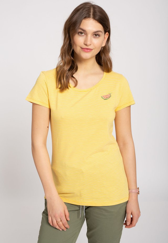 Basic T-shirt - sunflower / white
