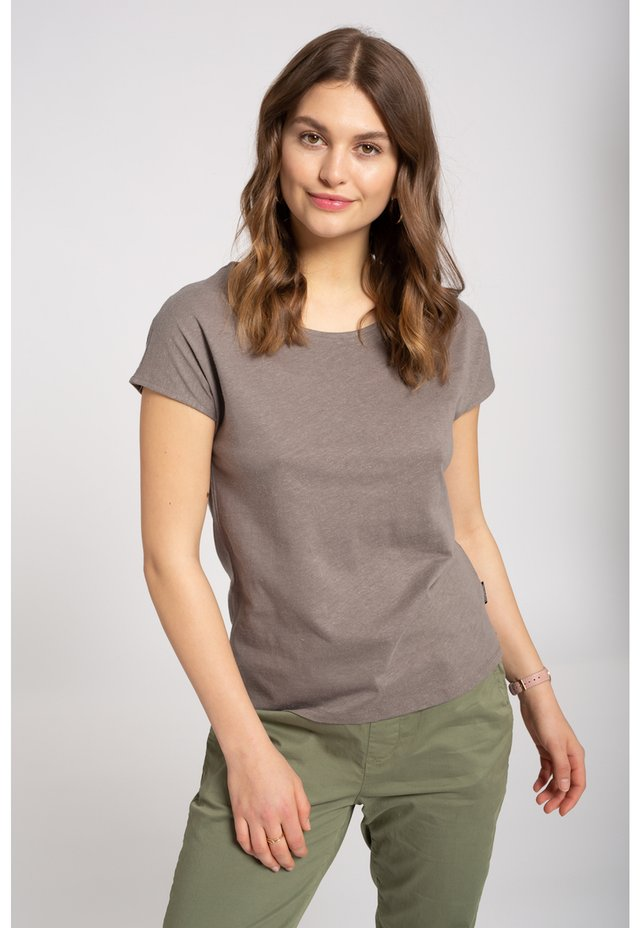 Basic T-shirt - brown hemp
