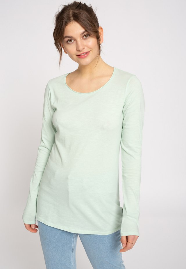 LANGARMSHIRT - Long sleeved top - mint