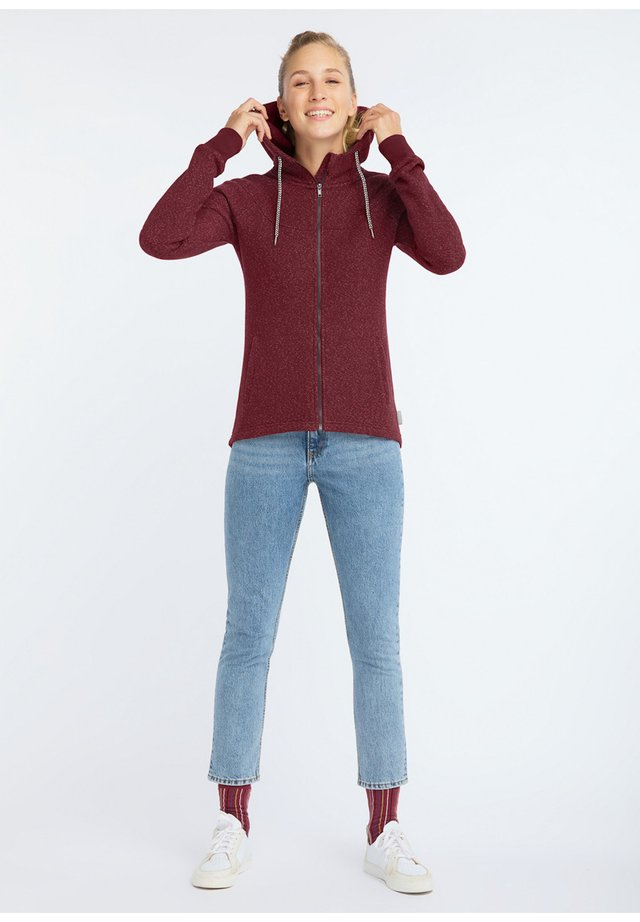 WAFFLE DELUXE - Zip-up hoodie - red waffle