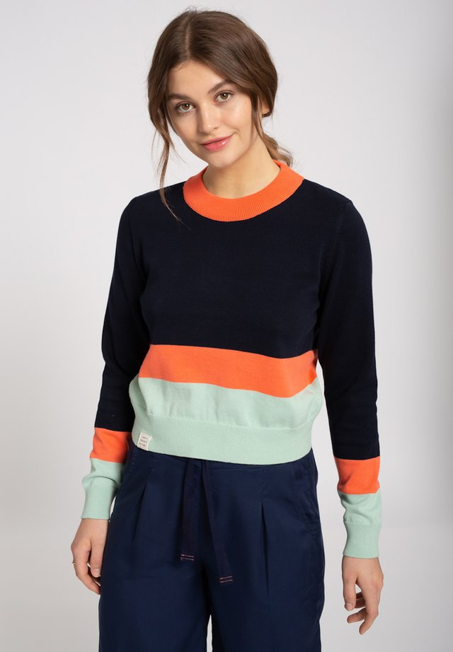 Jumper - navy / coral / mint
