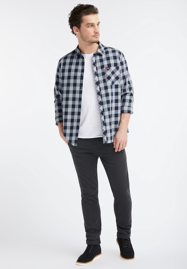 FLANELL SHIRT - Shirt - navy/grey