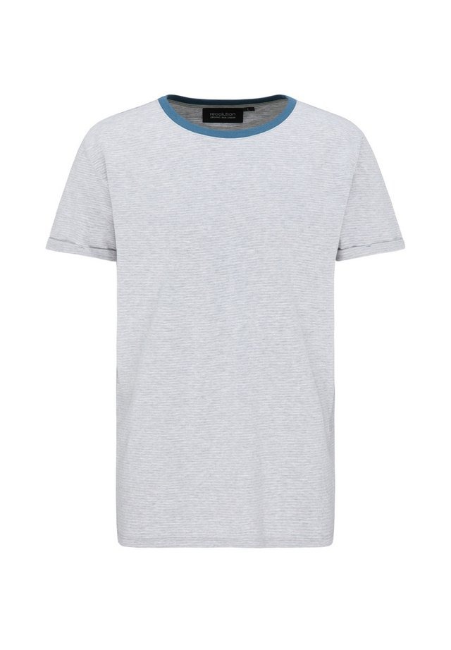 Basic T-shirt - grey/white fine