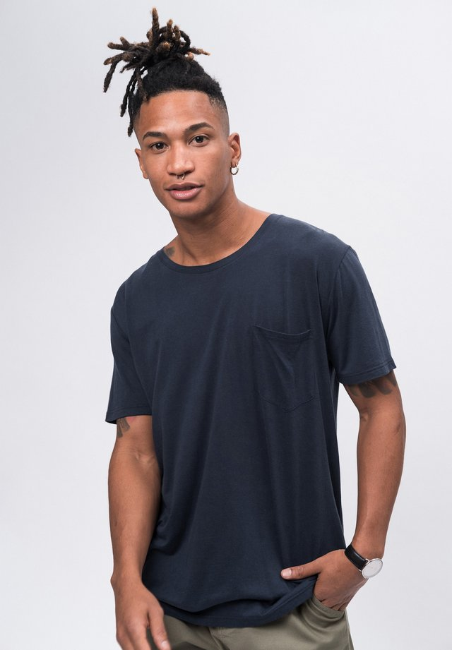 LYOCELL - Basic T-shirt - navy