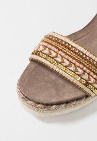 Refresh - Platform sandals - camel - 2