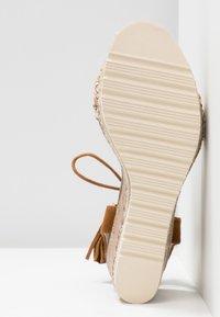 Refresh - Platform sandals - camel - 6