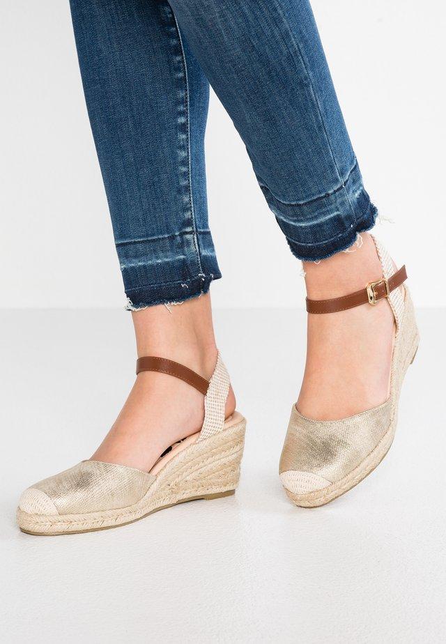 Sandały na koturnie - oro