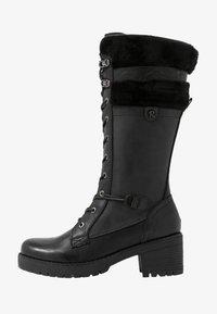 Refresh - Šněrovací vysoké boty - black - 1