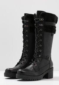 Refresh - Šněrovací vysoké boty - black - 4